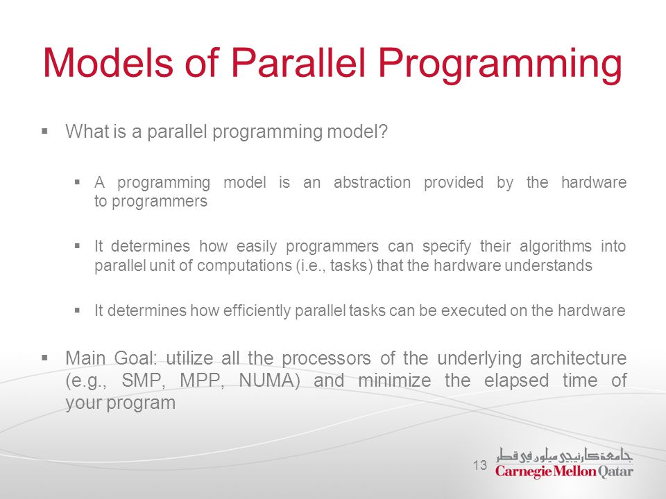 Models of Parallel Programming