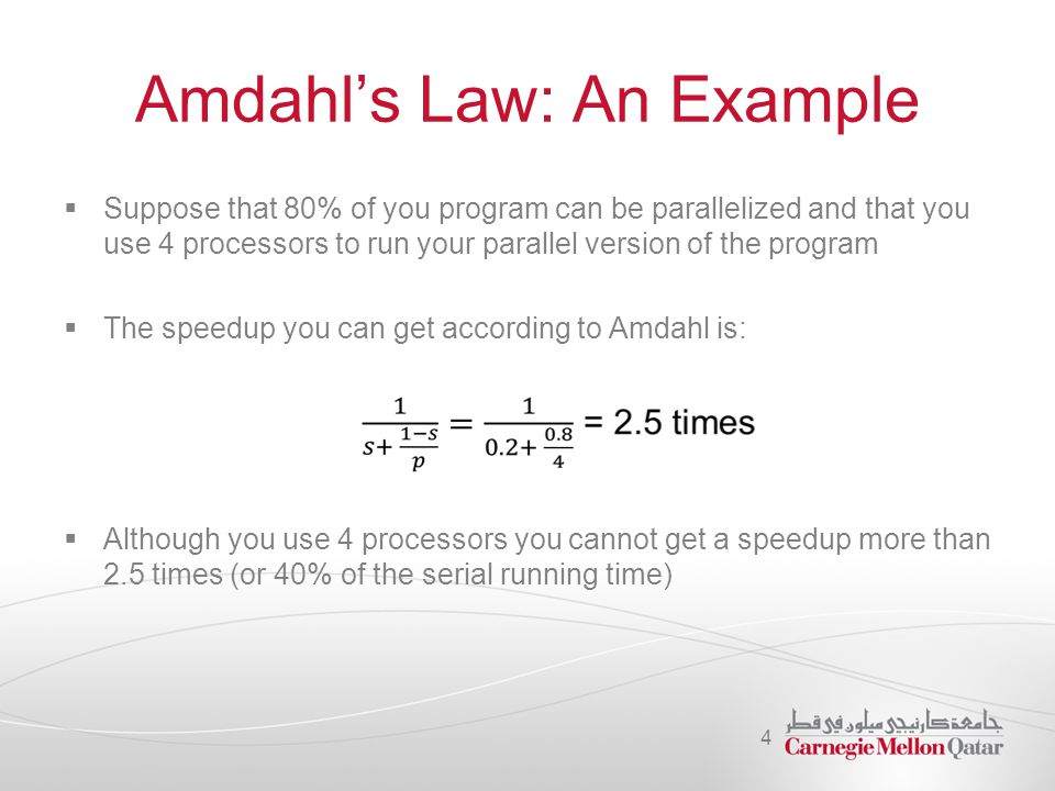 Amdahl's Law: An Example