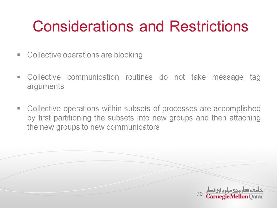 Considerations and Restrictions