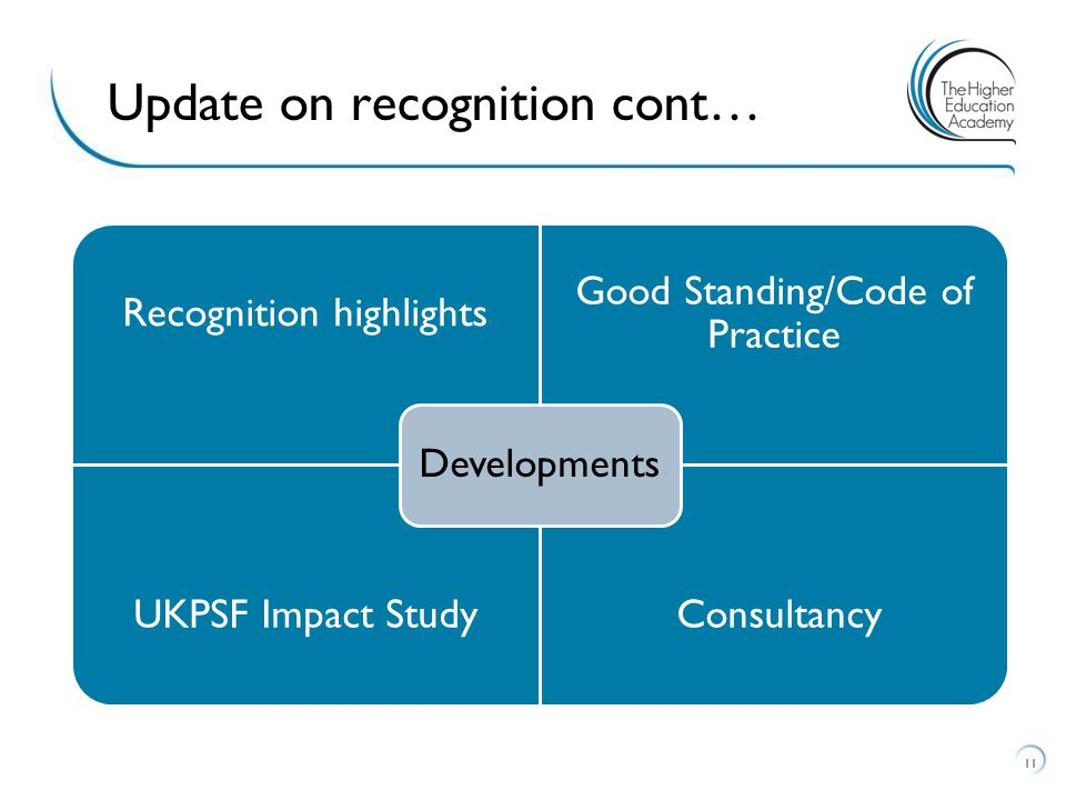 Update on recognition cont…