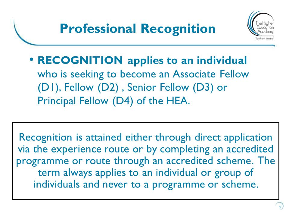 Professional Recognition