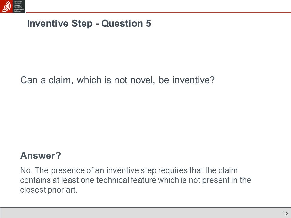Inventive Step - Question 5