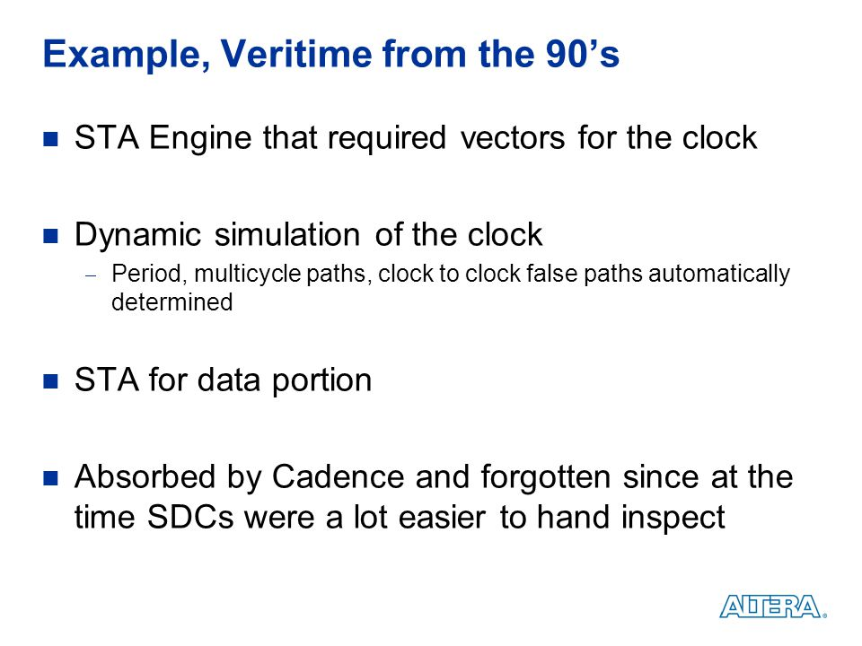 Example, Veritime from the 90's