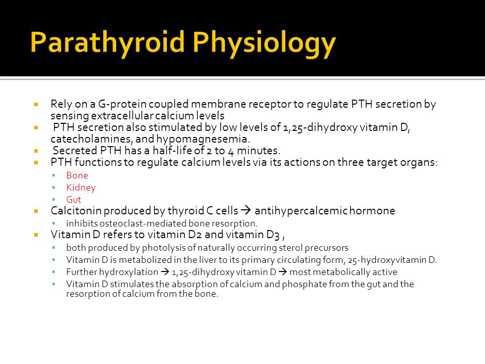 Parathyroid Physiology