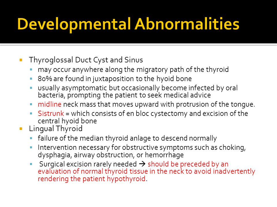 Developmental Abnormalities