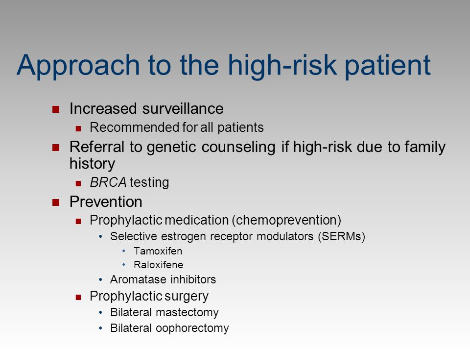 Approach to the high-risk patient