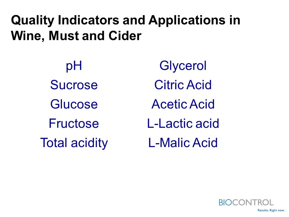 Quality Indicators and Applications in Wine, Must and Cider