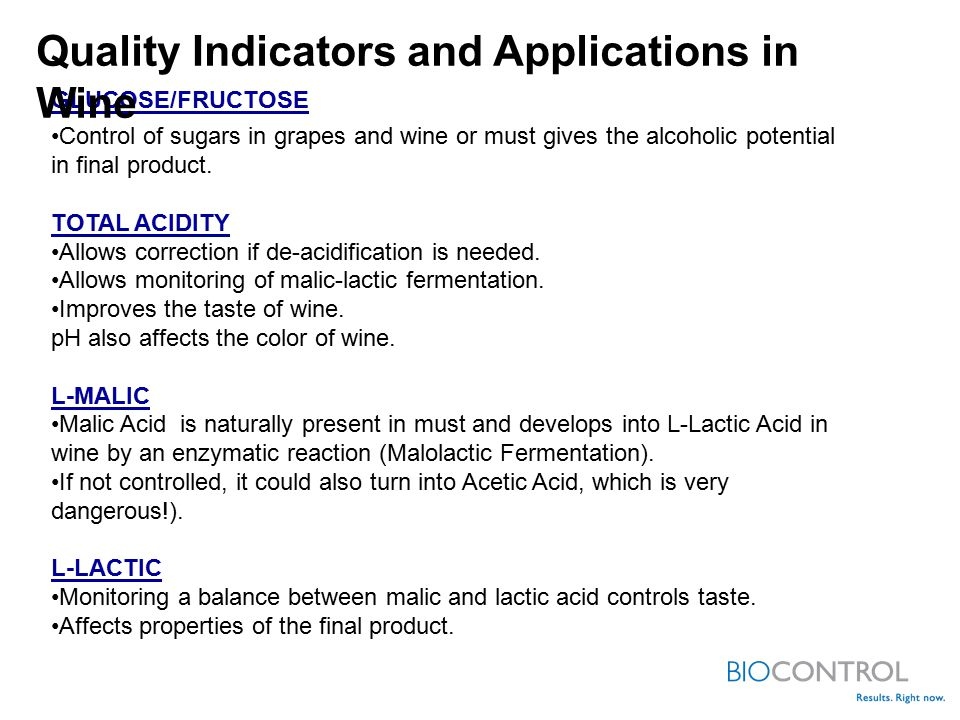 Quality Indicators and Applications in Wine