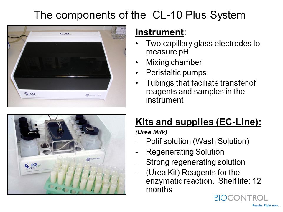 The components of the CL-10 Plus System
