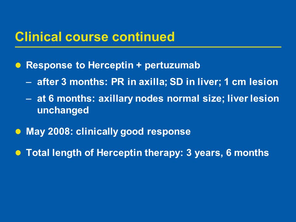 Clinical course continued