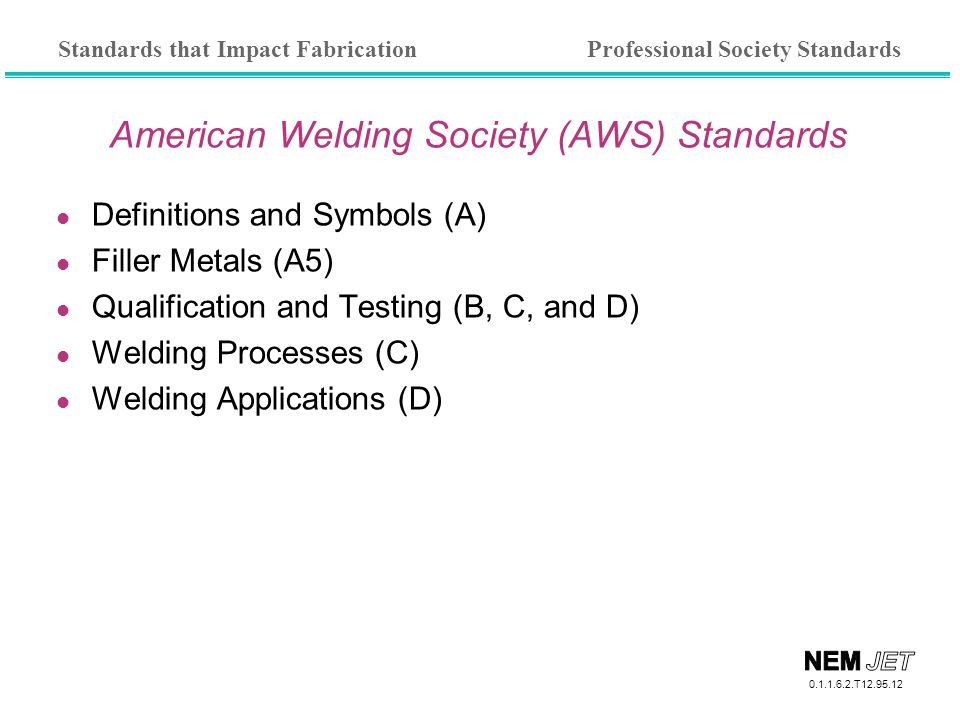 American Welding Society (AWS) Standards