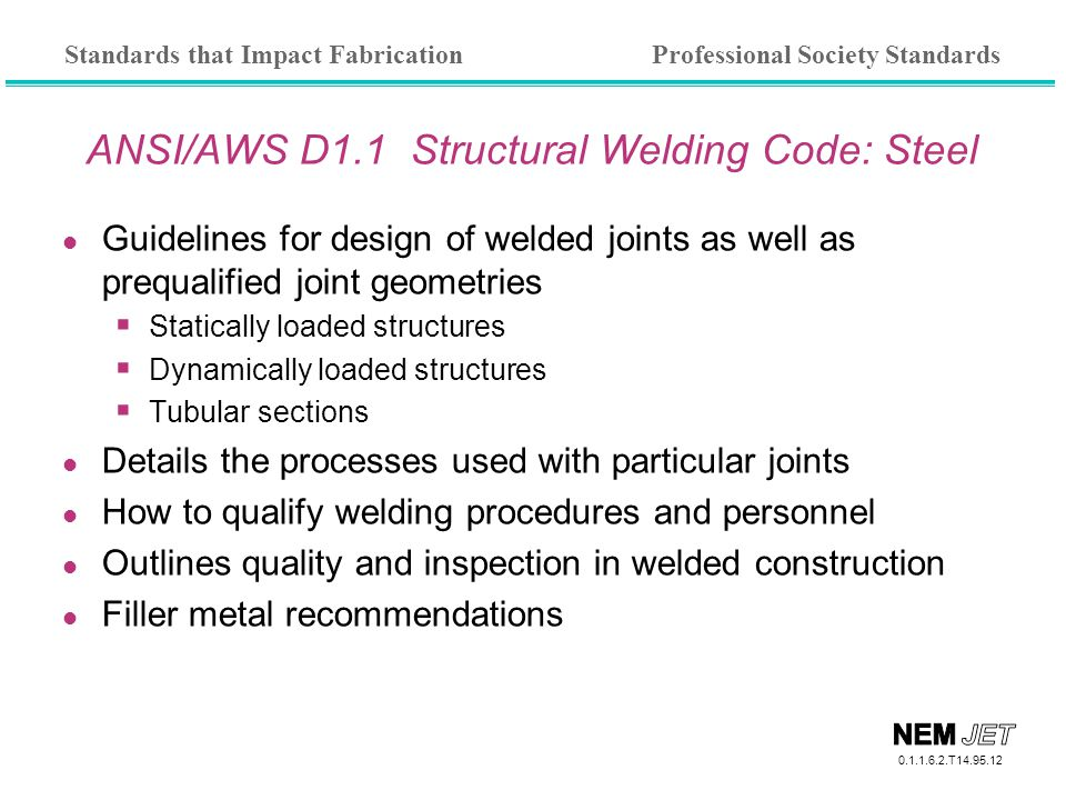 ANSI/AWS D1.1 Structural Welding Code: Steel