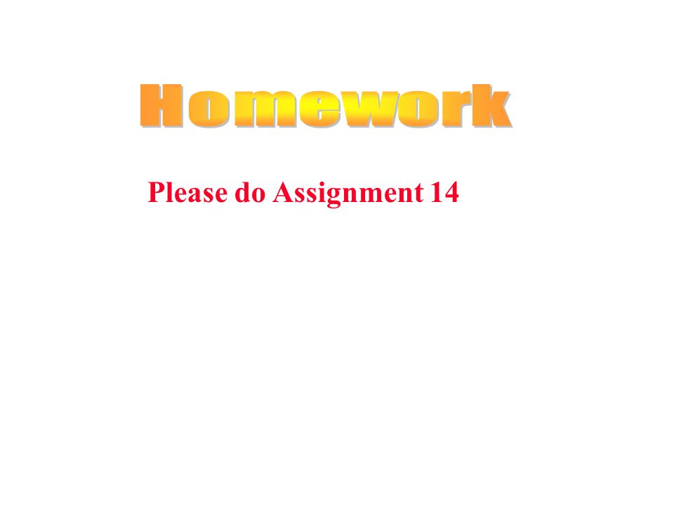Please do Assignment 14