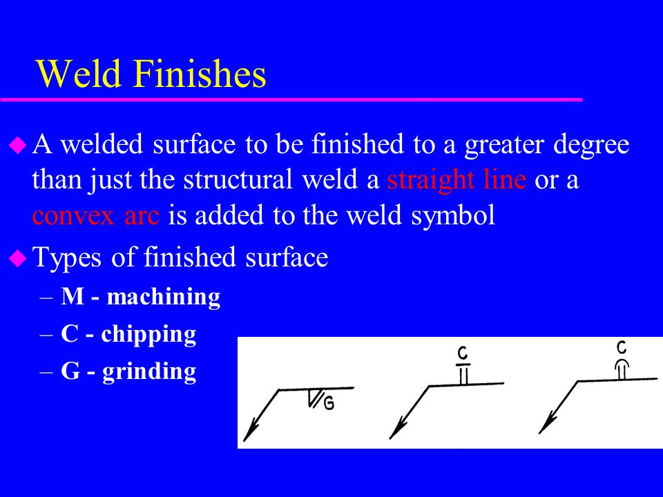 Weld Finishes