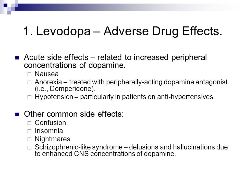 The Pharmacology Of Parkinson S Disease Ppt Video Online