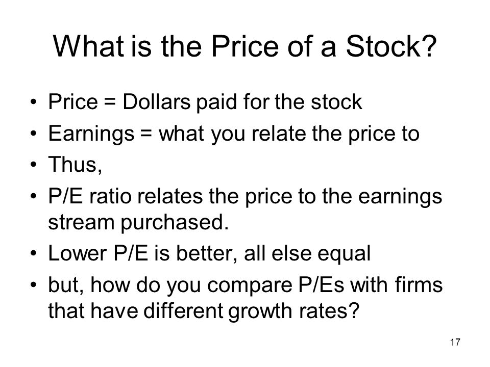 What is the Price of a Stock