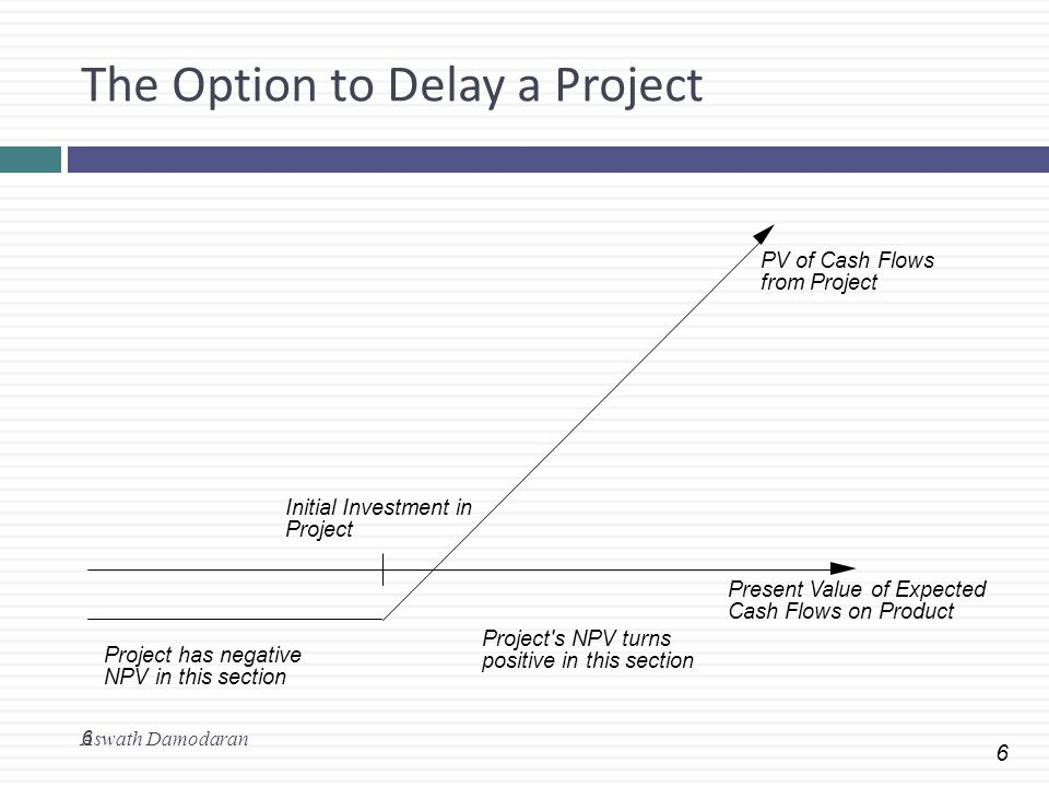 The Option to Delay a Project