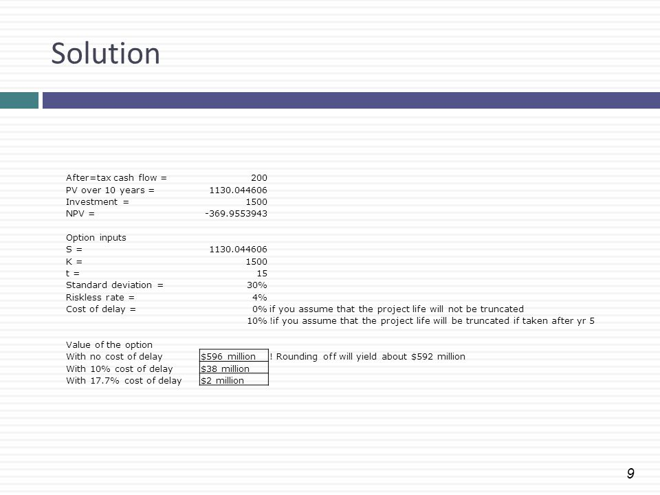 Solution After=tax cash flow = 200 PV over 10 years = 1130.044606
