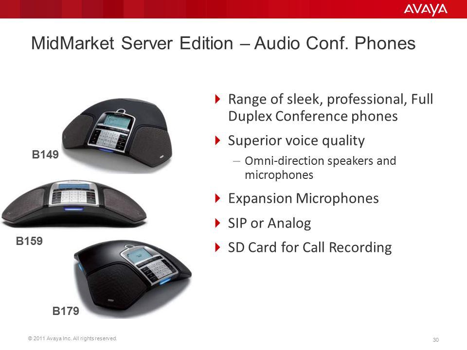 MidMarket Server Edition – Audio Conf. Phones