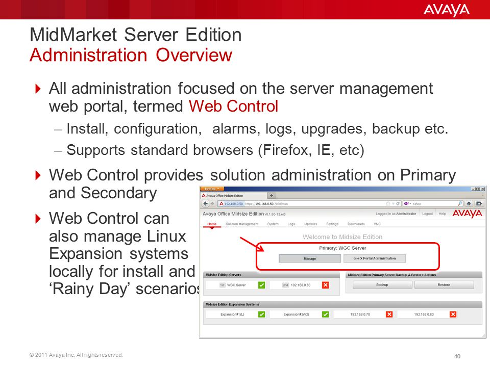 MidMarket Server Edition Administration Overview