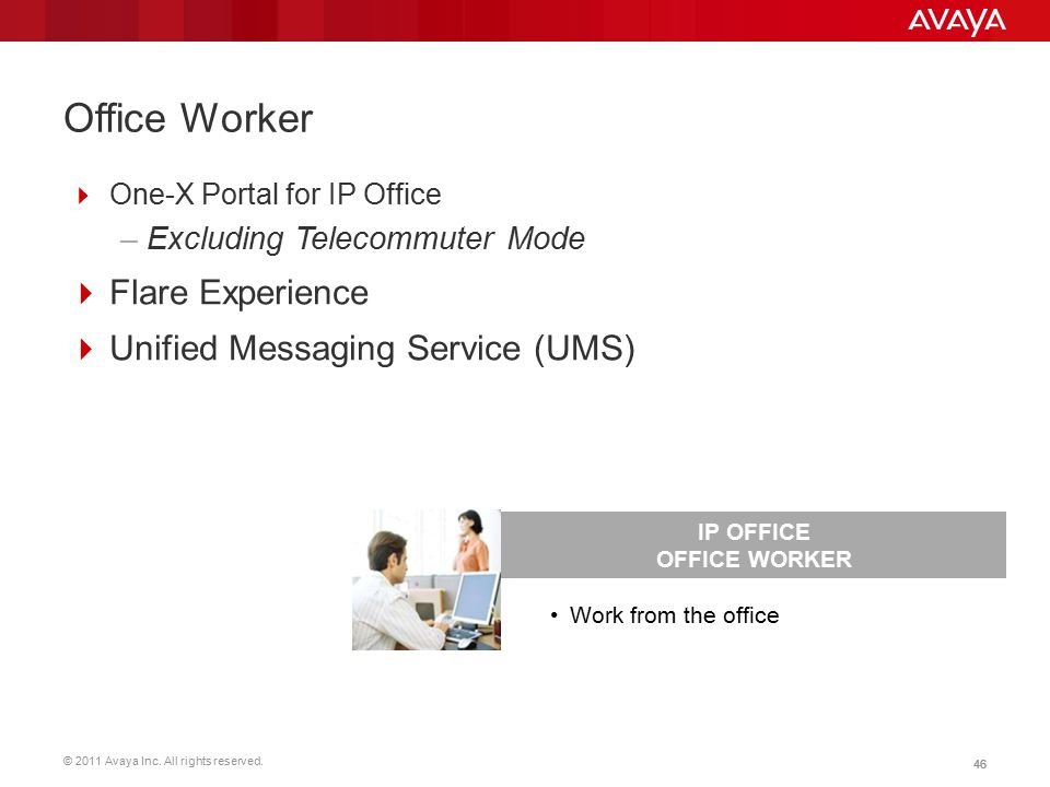 Office Worker Flare Experience Unified Messaging Service (UMS)