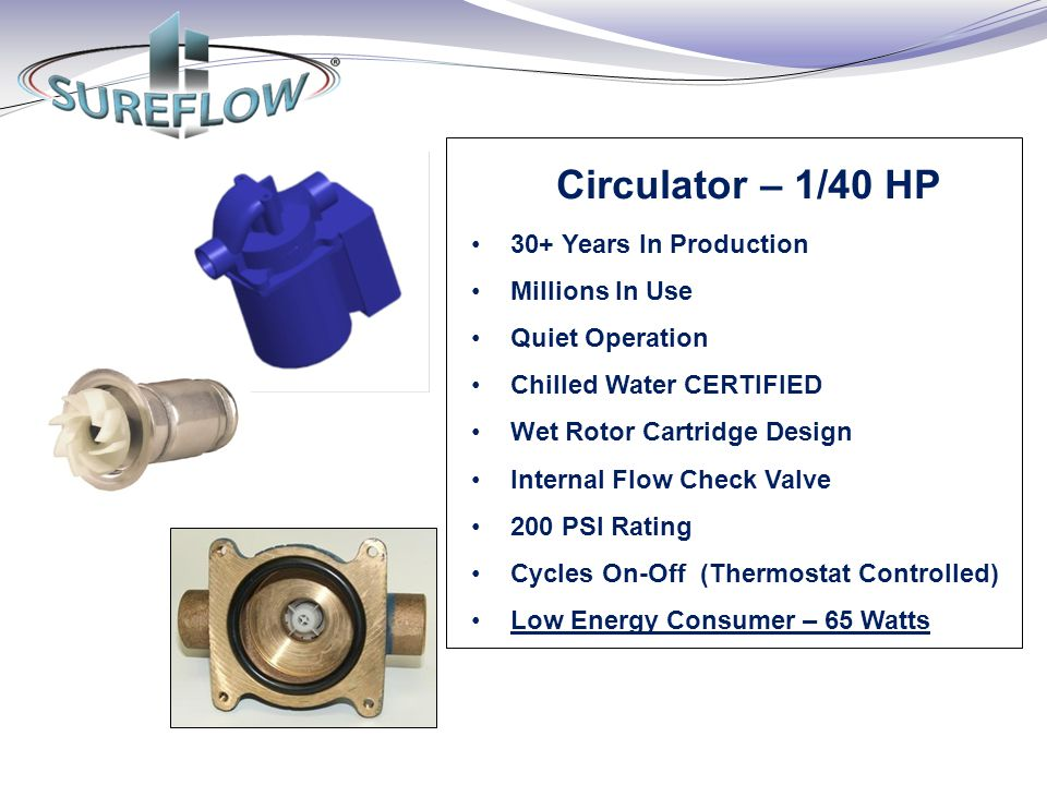 Circulator – 1/40 HP 30+ Years In Production Millions In Use