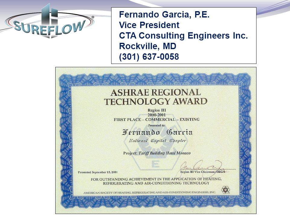 Fernando Garcia, P. E. Vice President CTA Consulting Engineers Inc