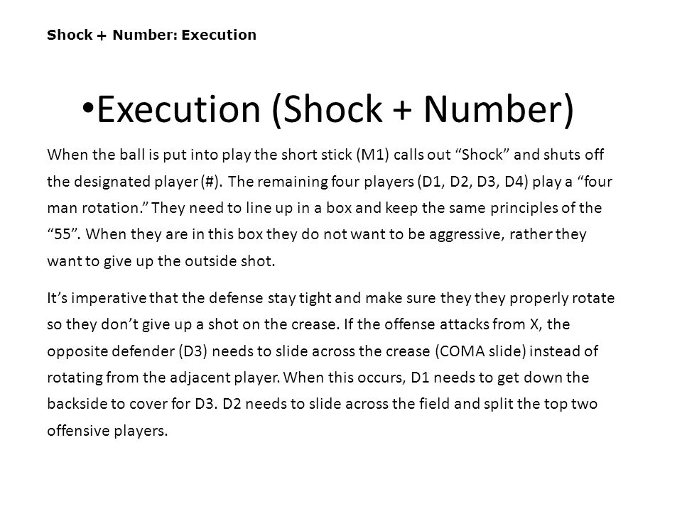 Execution (Shock + Number)