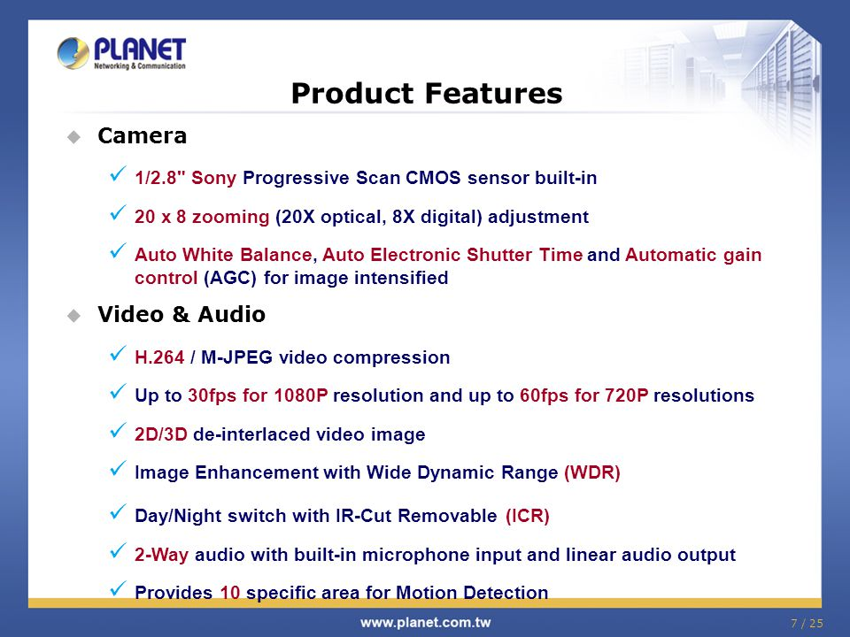 Product Features Camera Video & Audio