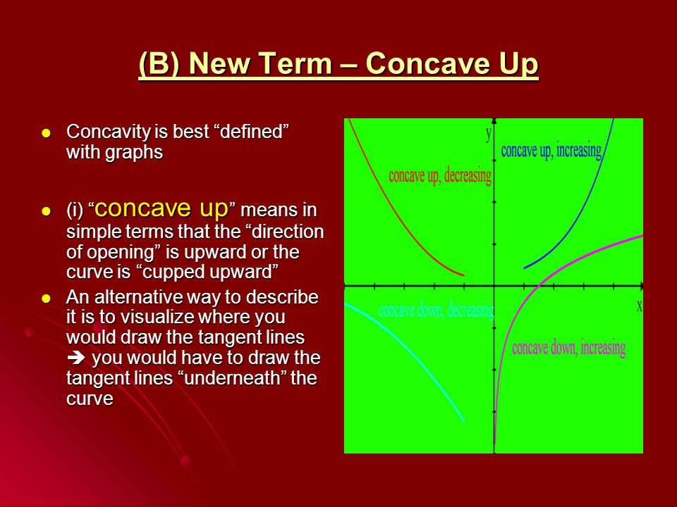 (B) New Term – Concave Up