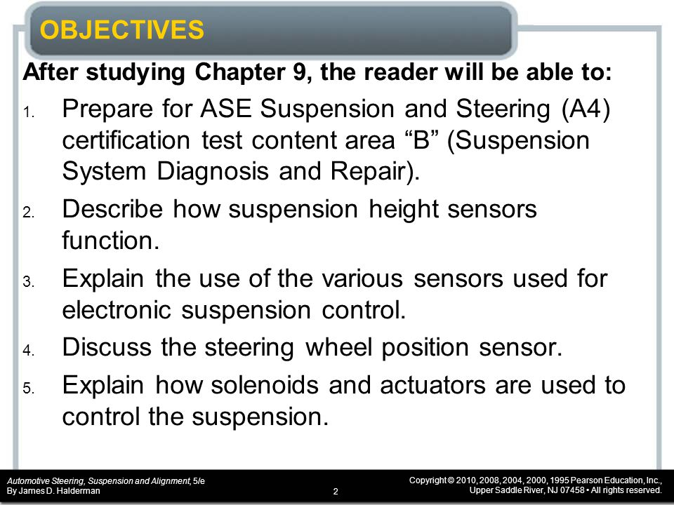Chapter 9 Electronic Suspension Systems Ppt Video Online