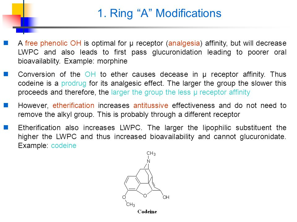 1. Ring A Modifications