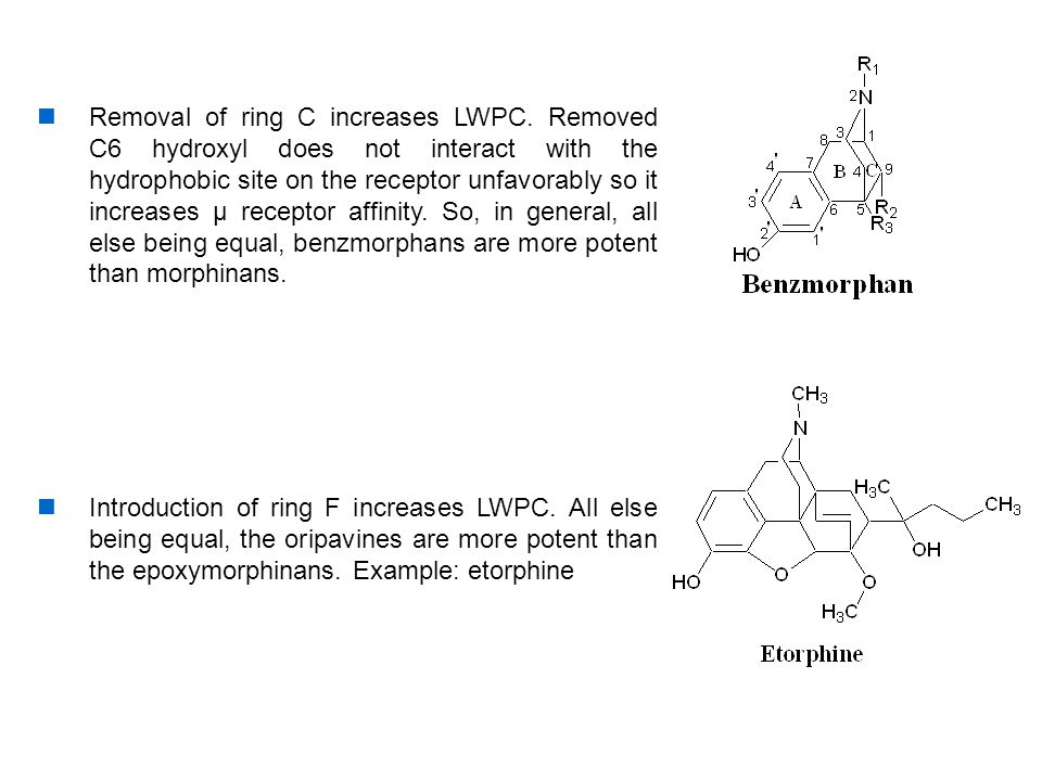 Removal of ring C increases LWPC