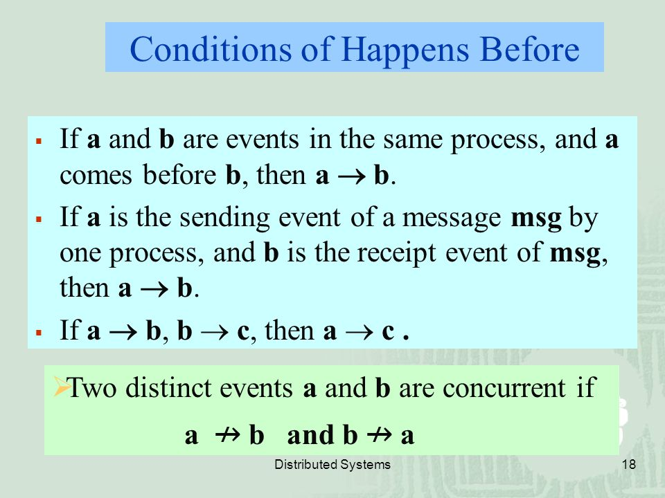 Conditions of Happens Before