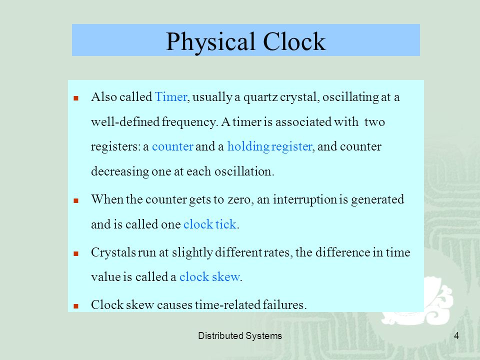 Physical Clock
