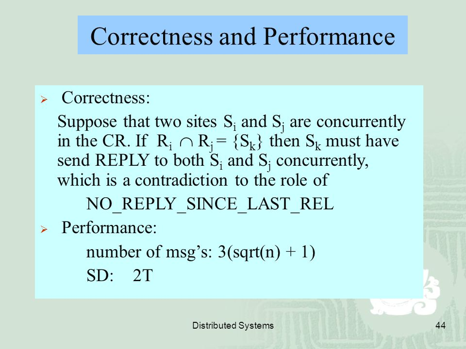Correctness and Performance