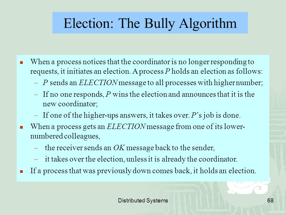 Election: The Bully Algorithm