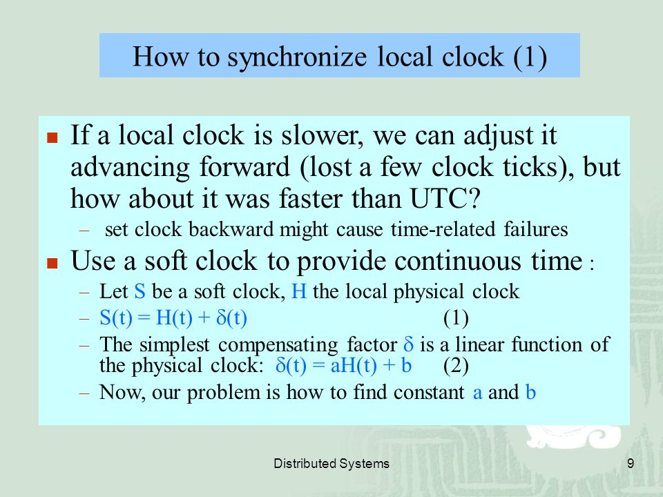 How to synchronize local clock (1)