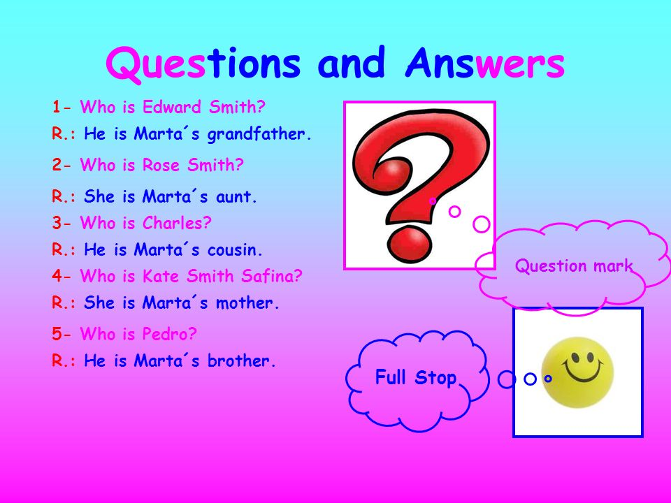Questions and Answers Full Stop 1- Who is Edward Smith