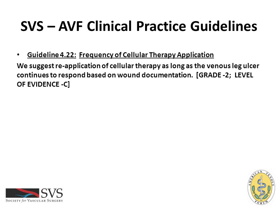 SVS – AVF Clinical Practice Guidelines