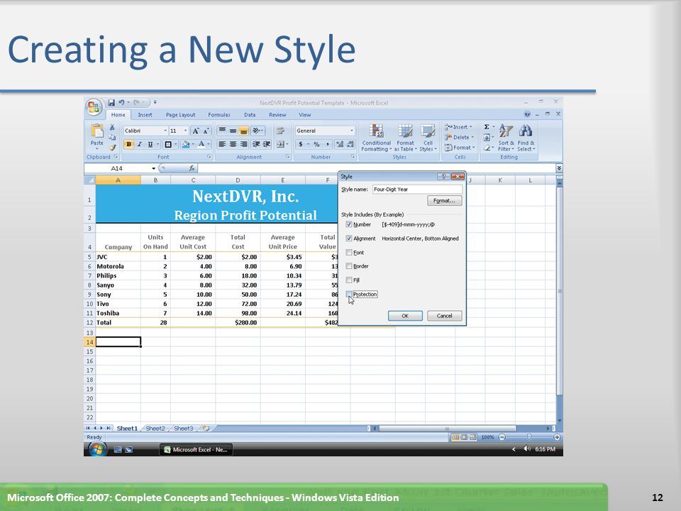 Creating a New Style Microsoft Office 2007: Complete Concepts and Techniques - Windows Vista Edition.
