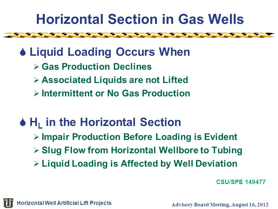Horizontal Section in Gas Wells