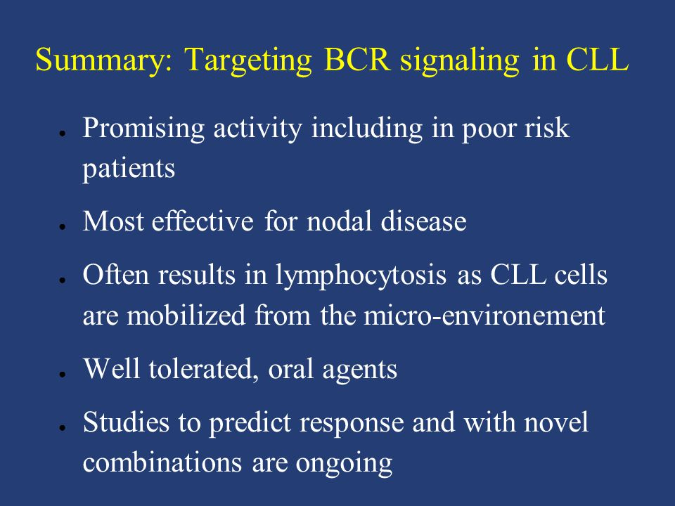 Summary: Targeting BCR signaling in CLL