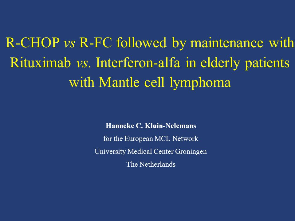 R-CHOP vs R-FC followed by maintenance with Rituximab vs
