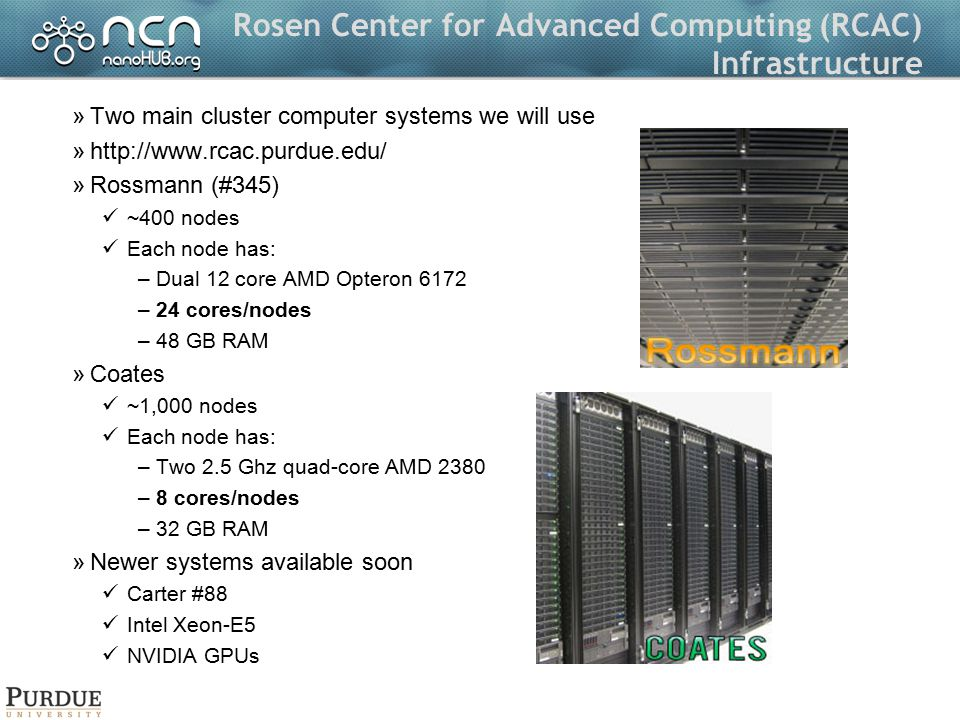 Rosen Center for Advanced Computing (RCAC) Infrastructure