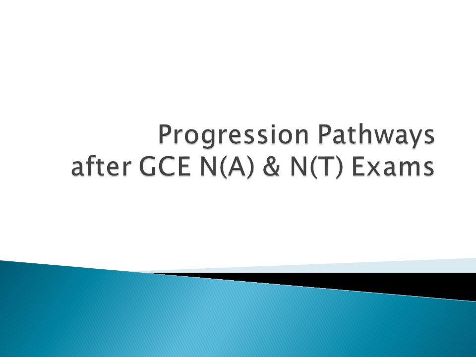 Progression Pathways after GCE N(A) & N(T) Exams