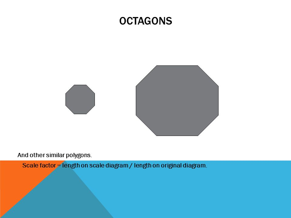 Octagons And other similar polygons.