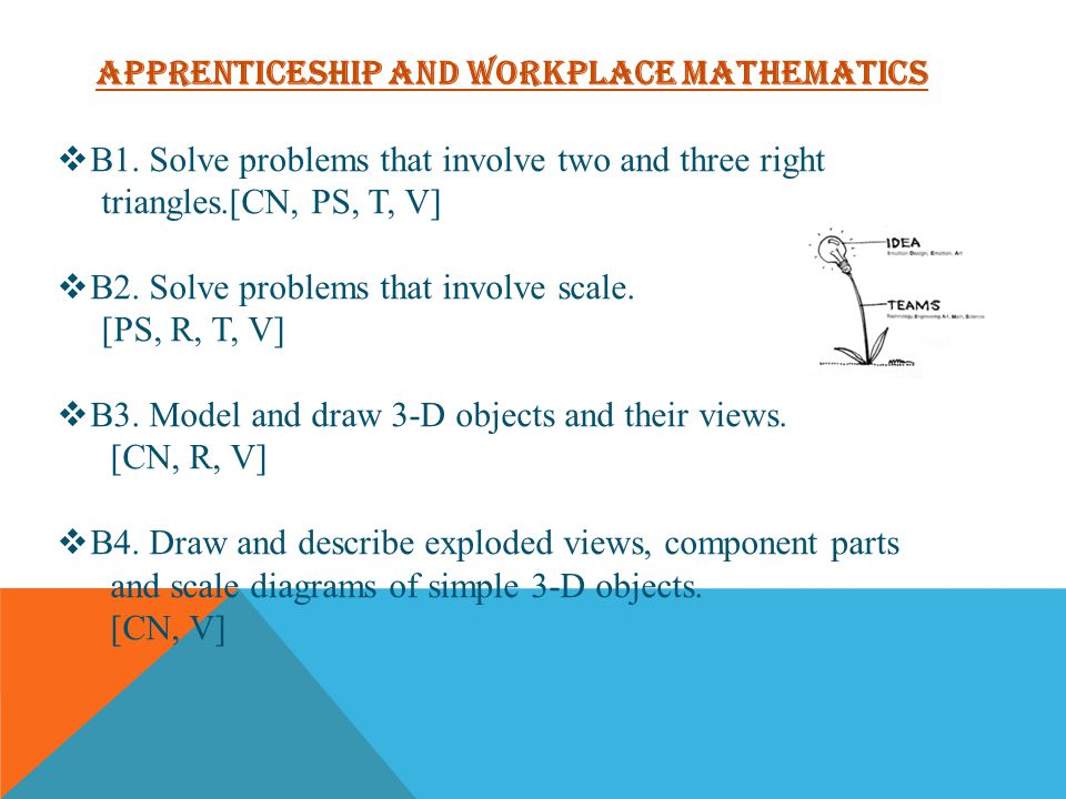 Apprenticeship and Workplace Mathematics