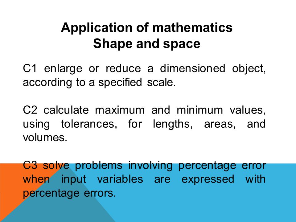 Application of mathematics
