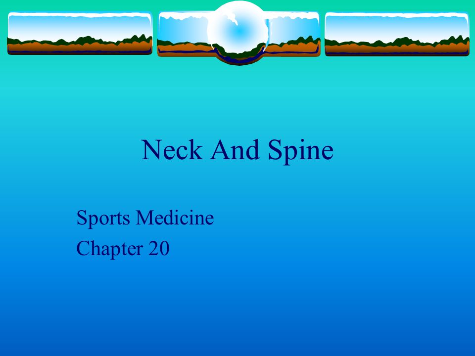 Sports Medicine Chapter 20